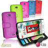 Photo ID Wallet Flip Leather Stand Case Cover for LG L70 + Screen Guard