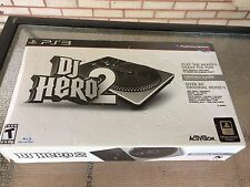 PLAYSTATION 3 PS3 GAME DJ HERO 2 TURNTABLE BUNDLE BRAND NEW AND SEALED
