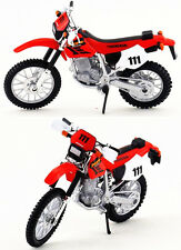 HONDA XR400R 1:18 DieCast Motocross MX Toy Model Bike Red NEW MAISTO