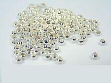 1000 Quetschperlen 2,5mm Silber Crimps Quetschkalotten Quetschkugeln Perlen