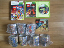 McDonalds Cups x7 NEW Emmet Figure XBOX 360 Lego Movie Videogame Boxset VGC