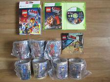 McDonalds Cups x7 NEW Emmet Figure XBOX 360 Lego Movie Videogame Boxset VGC