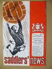 FA Cup 3rd RD 1968- WALSALL v CRYSTAL PALACE, 27 January