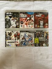 Lot Of 6 Ps3 Sports Games: Nba 09, Nba2k 11 & 12, Mlb The Show 07, Madden 13&10