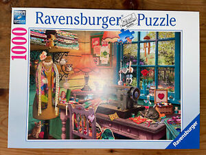 ravensburger puzzle 1000- sewing shed