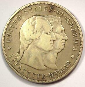 1900 Lafayette Commemorative Silver Dollar $1 - Strong Details - Rare Type!