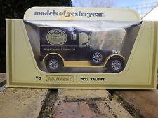 MATCHBOX YESTERYEAR Y5 TALBOT camionnette 1927 WRIGHT'S neuf en boite