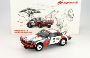 Spark 1/18 Porsche 911 Carrera African Safari Rally Martini #5