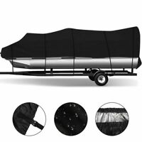 "Waterproof 17""-20ft , 21-24ft Pontoon Boat Cover Trailerable UV Mainre Grade"
