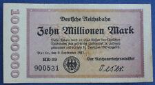 # Deutsche Reichsbahn 10 Millionen Mark 1923...od 5,99 #