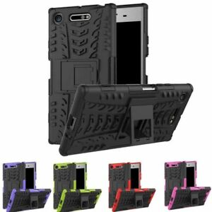 For Sony Xperia L3 XZ1 XZ2- Heavy Duty Rugged Armour Shockproof Stand Case Cover