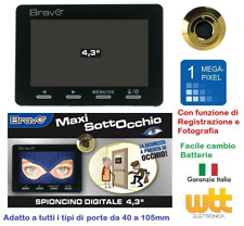 SPIONCINO DIGITALE SOTTOCCHIO UNIVERSALE DISPLAY 1,0 MPX 4,3' ZOOM 8X - SD CARD
