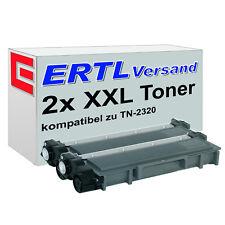 2 XL Toner für Brother TN-2320 TN-2330 TN-2345 TN-2350 TN-2356 TN-2370 TN-2380
