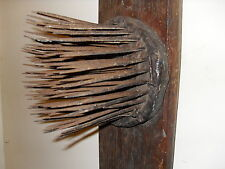 Primitive Flax Heckle Hemp Wool Comb Teasel Tool - Fantastic Display !!