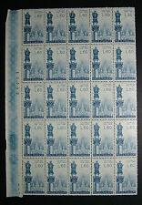 1958  ITALIA  60  lire   Lourdes  -   Bernadette   blocco di 25 valori  MNH**