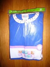 NWT boys girls size 4/ 4T Small Steps blue one-piece footed blanket sleeper