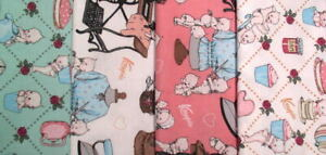 Riley Blake Sew Kewpie® Bundle of 4 Fat Quarters Novelty Cotton Fabrics