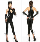 Sexy De Mujer Disfraz Halloween CATWOMAN Leopardo Salvaje gato cosplay