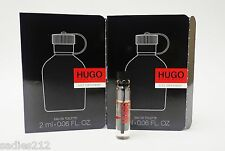 HUGO BOSS JUST DIFFERENT EDT 2ml .06oz MEN SAMPLE COLOGNE SPLASH VIALS MINIS X 2