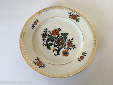 "Czechoslovakia Czech China CZE54 Orange Blue Flowers, Gold - 6-1/4"" BREAD PLATE"