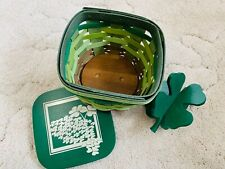 Longaberger 2016 Shamrock St. Patrick's Day Basket Make Your Own Luck *new*
