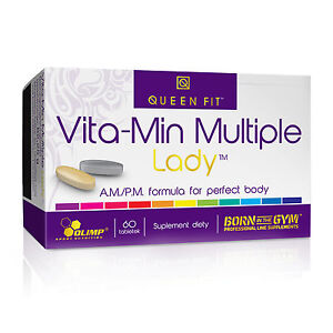 OLIMP Queen Fit - Vita-Min Multiple Lady 60 Tablets AM/PM FORMULA FOR WOMEN