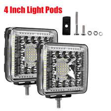 "2X 880W 4"" 4Inch CREE LED Work Lights Pod Spot Flood Combo Offroad Driving Light"