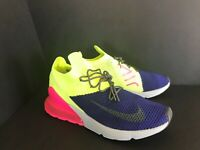 NEW Nike Air Max 270 Flyknit Mens Shoes Purple Gray Volt AO1023-501 Size 11.5