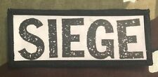 Siege Logo Printed Patch S052P Dropdead Crossed Out Deep Wound