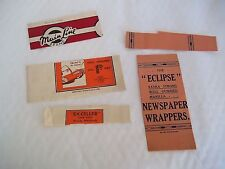 Collection of 5 Stationery Wrappers From the 1930's