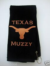 Personalized Embroidered Golf Bowling Workout Towel Texas Longhorns
