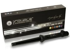 Royale Black Grande 25/18mm Hair Curling Iron/Curler/Wand Iron+Glove w/cool tip