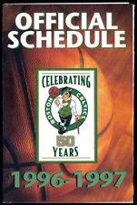1996-97 BOSTON CELTICS MILLER LITE BASKETBALL POCKET SCHEDULE FREE SHIPPING