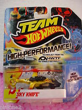 Hot 2012 Team Hot Wheels SKY KNIFE Copter∞YELLOW∞High Performance∞HWTF