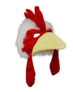 Rooster Chicken Bird Beak Plush Costume Mask Hat