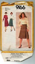 Pull chemisier & EASY WRAP jupe sewing pattern Taille 14 Simplicity 9166