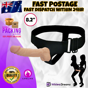 Wearable Realistic Dildo Dong Strap On Harness Lesbian Couples Adult Sex Toy New