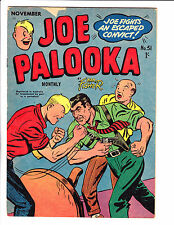 "Joe Palooka No 51 1956 - Austrailian-""Joe Fights Escaped Convict Cover ! """
