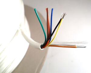ProPower Alarm Cable 8CALMCCA 8 Way 7/0.2mm Strand PVC Ins 50V 5Mtrs OMR5-05B