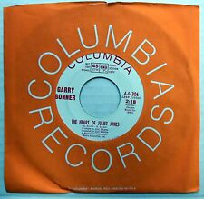 GARRY BONNER 45 Heart Of Juliet Jones / Me About You PROMO Jack Nitzche MOD w752