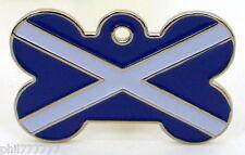 La bandera nacional de Escocia Cruz ~ ~ gran etiquetas de identificación del animal doméstico