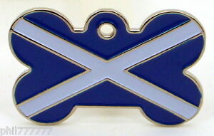 The Saltire ~ National Flag of Scotland ~ Large pet id tags