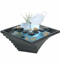 Tea Cascade Small indoor / Outdoor table top Water fountain water feature