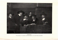 "1903 Antique Fine Art Print Rembrandt""The Syndics of the Drapers"" Dodd Mead10X6"""