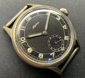 1940s Alpina Radial Two Tone Dial Wristwatch