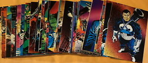1992 Marvel PUNISHER Trading Cards Complete Set 90 Cards - NM-M by Comic Images