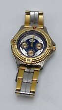 GUESS Silver & Gold Stainless Steel Mens Wristwatch Watch *needs new battery
