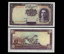 78-Iran. 10 Rials Bank Note. P40. 1944 Issue. First series. Choice Unc.