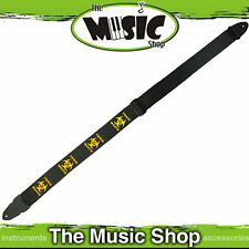 "New LM Toxic Waste Guitar Strap - 2"" Fully Adjustable - Black & Yellow - LMP4TW"