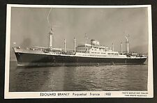 postcard France Edouard Branly Paquebot Ship Marius Bar Toulon Unused